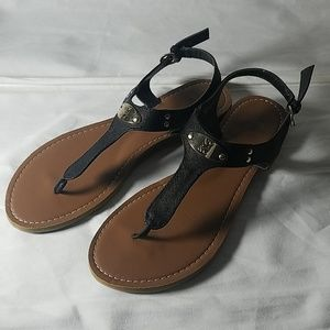 NY & C blackThong Sandals , size 10